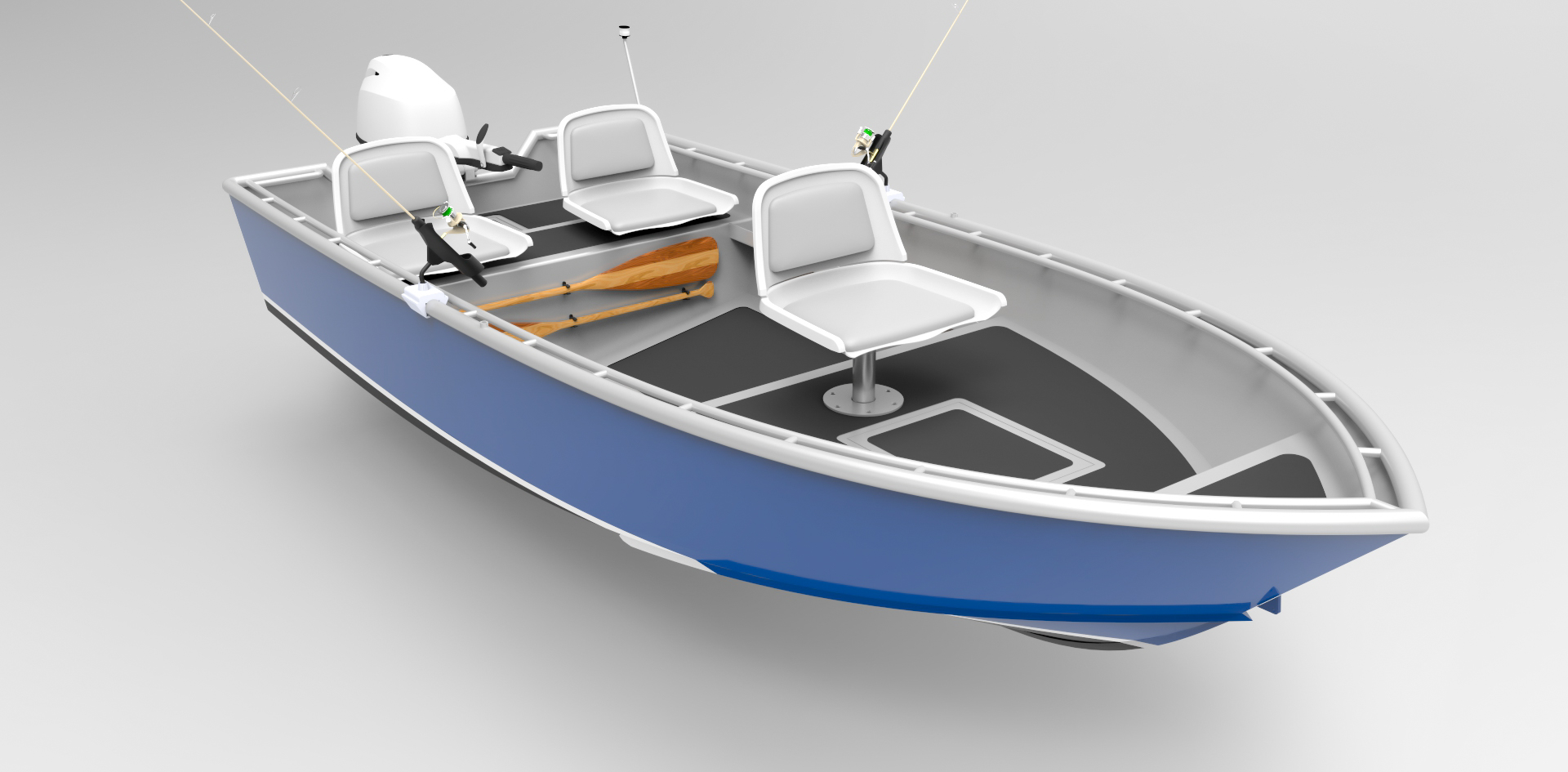 14 Foot (4m) Skiff - Sport Fish - Metal Boat Kits