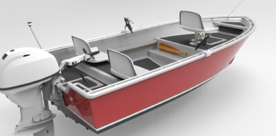 14ft Skiff Fisher Red 02